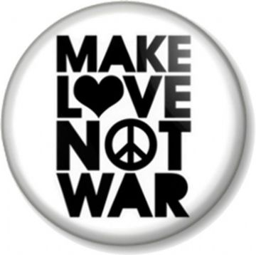 Make Love Not War Pinback Button Badge Ban the Bomb Sign Hippie Peace Symbol Protest Slogan